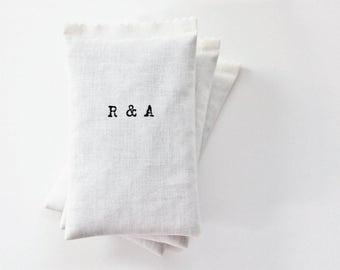 Monogram Initials Lavender Sachet, Scented Sachets Cotton Anniversary Gift, His Hers Decor