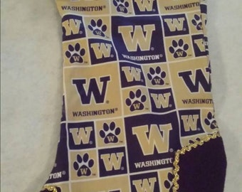 Washington Huskies  Christmas  Stocking made  and ready to ship