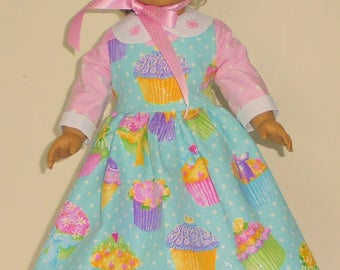Colonial Easter Dress designed for American Girl Felicity,Elizabeth or Kirsten 3 pc.. No. 705