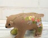Blossom Bear Pin Cushion pdf pattern instant download