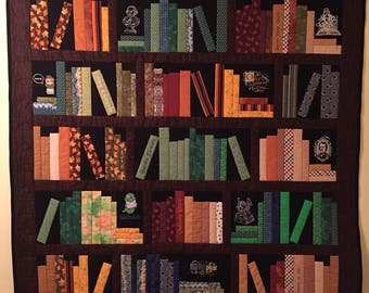 Bookshelf quilt custom made to order