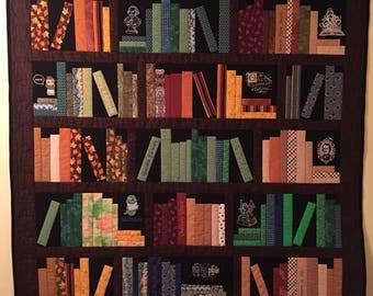 Bookshelf quilt custom made to order