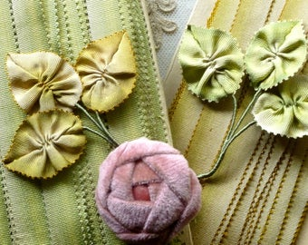 Antique French Silk Picot Ombre Ribbon in Two Colors