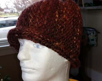 Knit Winter Hat in Browns