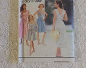 Uncut & Factory Folded Sewing Pattern * Women Lady's Summer Dress * Backless * Simplicity 7812 Sizes 6 8 10 12 Included  * No Sleeves
