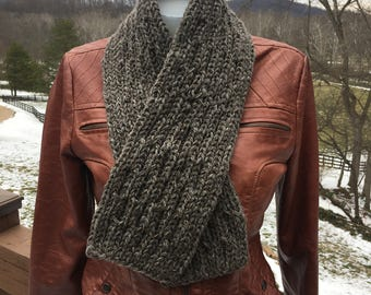 Hand Knit  Llama Scarf, Versatile and Warm Winter Fashion