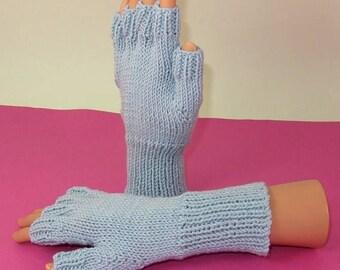 50% OFF SALE Digital pdf file knitting pattern- Simple Short Finger Gloves pdf download knitting pattern