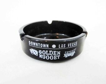 Vintage Golden Nugget Casino Las Vegas Ashtray. Circa 1960's.