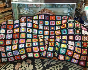 Large Colorful Vintage Granny Afghan from Rustysecrets