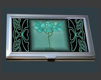 Business Card Case - Featuring an Art Nouveau Tile