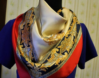 how to wear a large square silk scarf