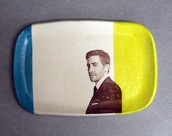 Jake Gyllenhaal Decal Ceramic Trinket Dish