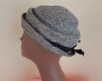 womens vintage hat, spain, 22 inches, PILLBOX HAT