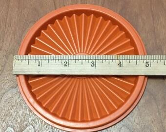 """Tupperware Lid,  5"""" Harvest Pumpkin,  Servalier Lid, Tupperware Replacement Lid #812"""
