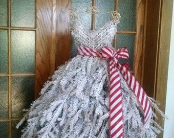 Ebook: Tutorial DIY Easy Dress Form Christmas Tree with faux