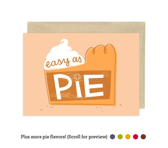 Easy as Pumpkin Pie Illustrated Greeting Card