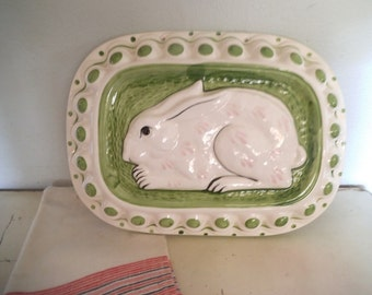 Vintage Bunny Mold ~ Ceramic Bunny Rabbit Food Mold ~ Wall art ~ Sigma ~ French Country ~ Farm House Kitchen