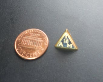 """Antique """"Int'l Assoc. of Machinists Union"""" Tie Pin, BB Co, 1/10 gold fill"""