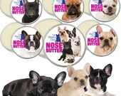 French Bulldog ORIGINAL NOSE BUTTER® Handcrafted All Natural Treatment for Dry Frenchie Dog Noses 1 oz Tin Choice Six Frenchie Labels