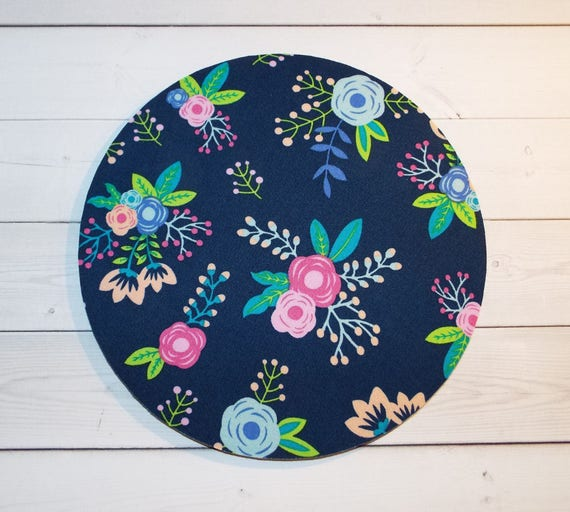 Floral mousepad / rose Mouse Pad / Mat round or rectangle - Office accessories  coworker gift desk decor