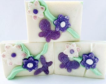 Butterfly Orchid Soap-Handmade-Artisan-Cold Process-Soap-Natural-Gift for Her-Mother's Day-Abbotsford-BC-Canada