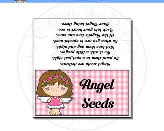 Angel Seeds Topper 1 - Digital Printable - Immediate Download