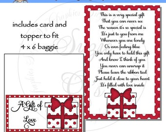 A Gift of Love includes Topper and Card - Digital Printable - Immediate Download