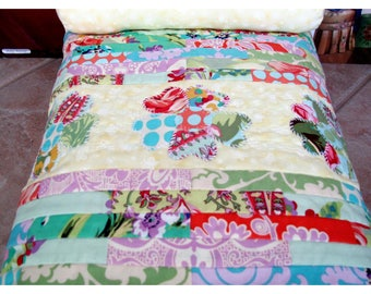 Doll Quilt with Coordinating Pillow for 18 Inch Dolls from Amy Butler's Love Collection