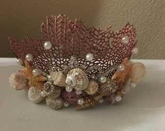 Mermaid Crown Seashell Head Band  Bride Bridesmaid Hair Tiara Sea Shell