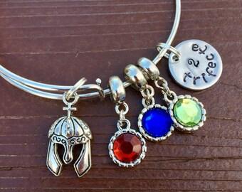 Trifecta Spartan Race OCR bangle bracelet.  Single, double or triple trifecta styles