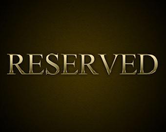 Reserved for Matt - reship