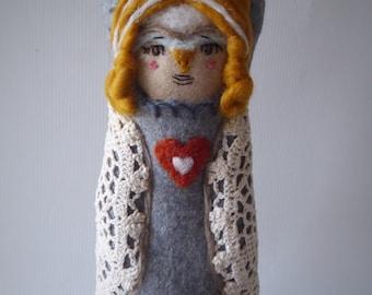 Evra Bird Woodland Handmade Doll Rag Doll Nesting Doll
