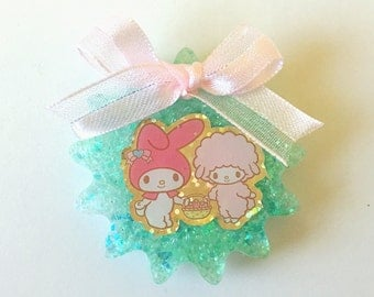 My Melody and Piano Ribbon Resin Magnet