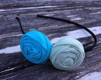 Seafoam rosette headband