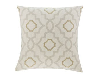 NEUTRAL Brown Grey Pillow Cover.Decorator Pillow Cover.Home Decor.Large Print. TALBOT MIST. Cushions. Cushion.Pillow. Premier Prints