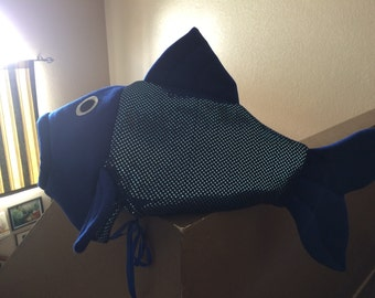 Roysl blue sequin fish vostume