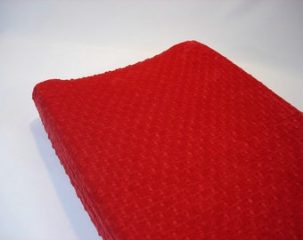 Red Changing Pad Cover Ruby