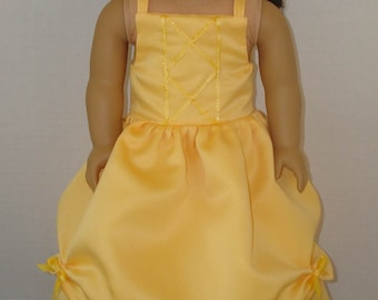 """18 inch Doll Clothes/Beauty And The Beast/Belle/Made to fit 18"""" Girl Dolls like American Girl/READY TO SHIP"""