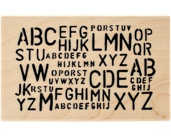 Just Reduced!  Jumbled Letters - New WM Rubber Stamp - Tim Holtz - Collage  - Cards - ATCs - FREE Shipping