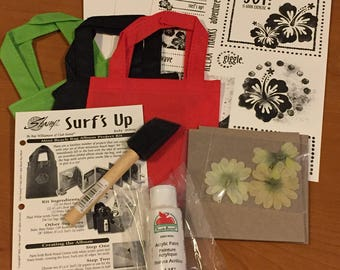 Great Mini Beach Bag Album Kit!  - Most Supplies & Instructions! - Free US Shipping