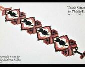 BP-PEY-113-2016-043 - Candy Kittens - Beading Tutorial, Peyote Pattern, Peyote Bracelet pattern, beadweaving tutorial, bracelet pattern