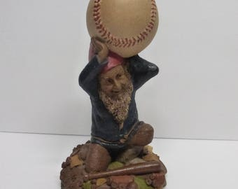 Vintage Cairn Studio Tom Clark Gnome Woodspirit Atlas Holding a Baseball Re Signed