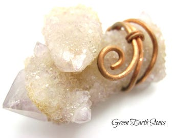Spirit Quartz Copper Wrapped Pendant, Spec # Spirit2,  Spiritual Pendant, Psychic, Cactus Quartz, Metaphysical, Crystal Healing,