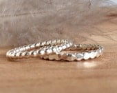 Sterling Silver Stacking Rings - Spacer Rings - Silver - Stackable Rings for Her - Dainty Rings