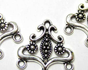 12 Silver Jewelry connectors Antique silver chandeliers links  jewelry findings silver components 21mm x 20mm 8S657-(G2)