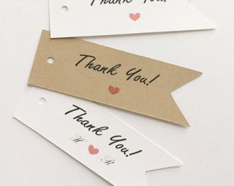 50 pcs Custom Thank you Gift Favor Tag for Wedding, Shower