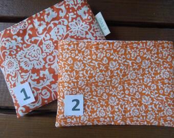 Reusable snack bag - Reuse snack bag - Fabric snack bag - Zero  waste reusable snack bag - Orange flowers