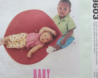 McCalls 3603/Uncut Sewing Pattern/Baby/Girl/Boy/Shirts, Tops, Pants/Weight Size 13-24 lbs/2002