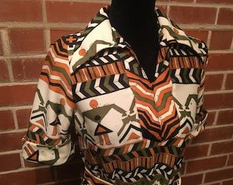Unique vintage shirtdress