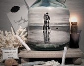 Reserved Order for Debi, Messages In A Bottle Guestbook, Personalized Guestbook Alternative, Hand Painted Bottle With Your Photo, Gift